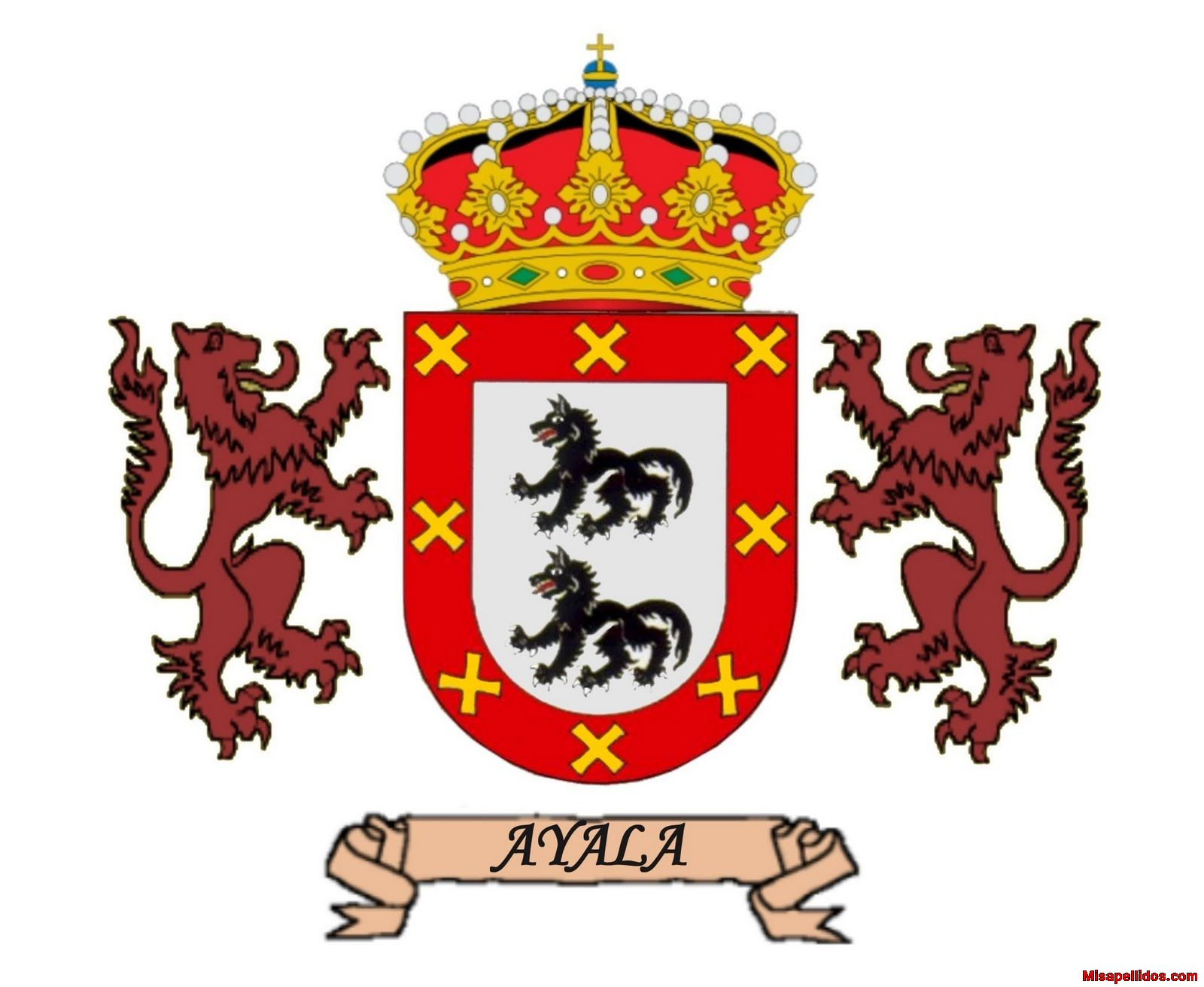 Resultado de imagen de escudo los Ayala Toledo